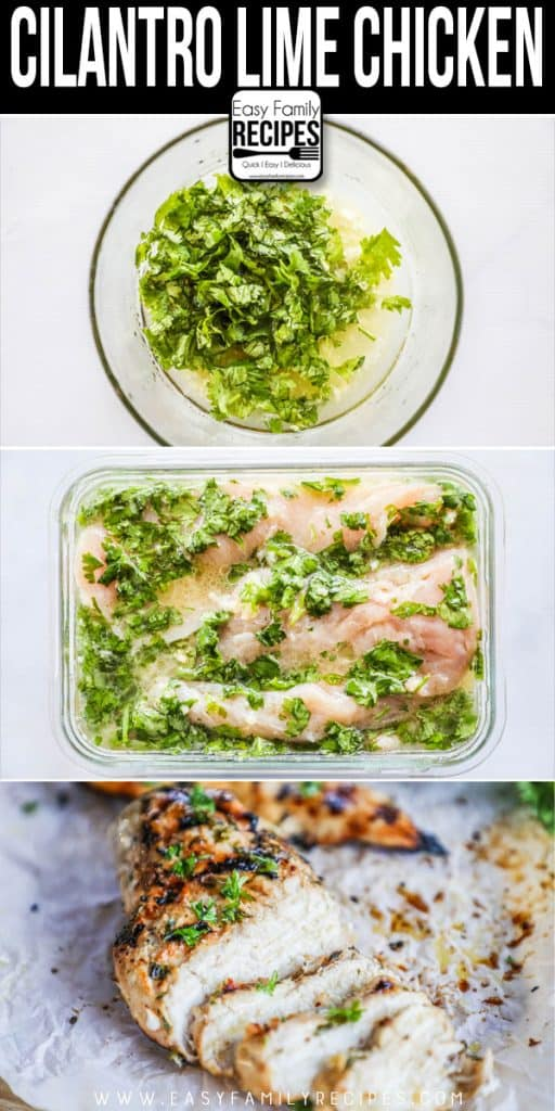 Steps for Making Cilantro Lime Chicken