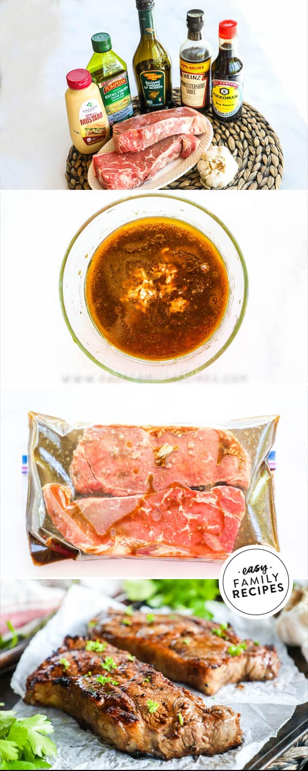 Steps for making quick steak marinade