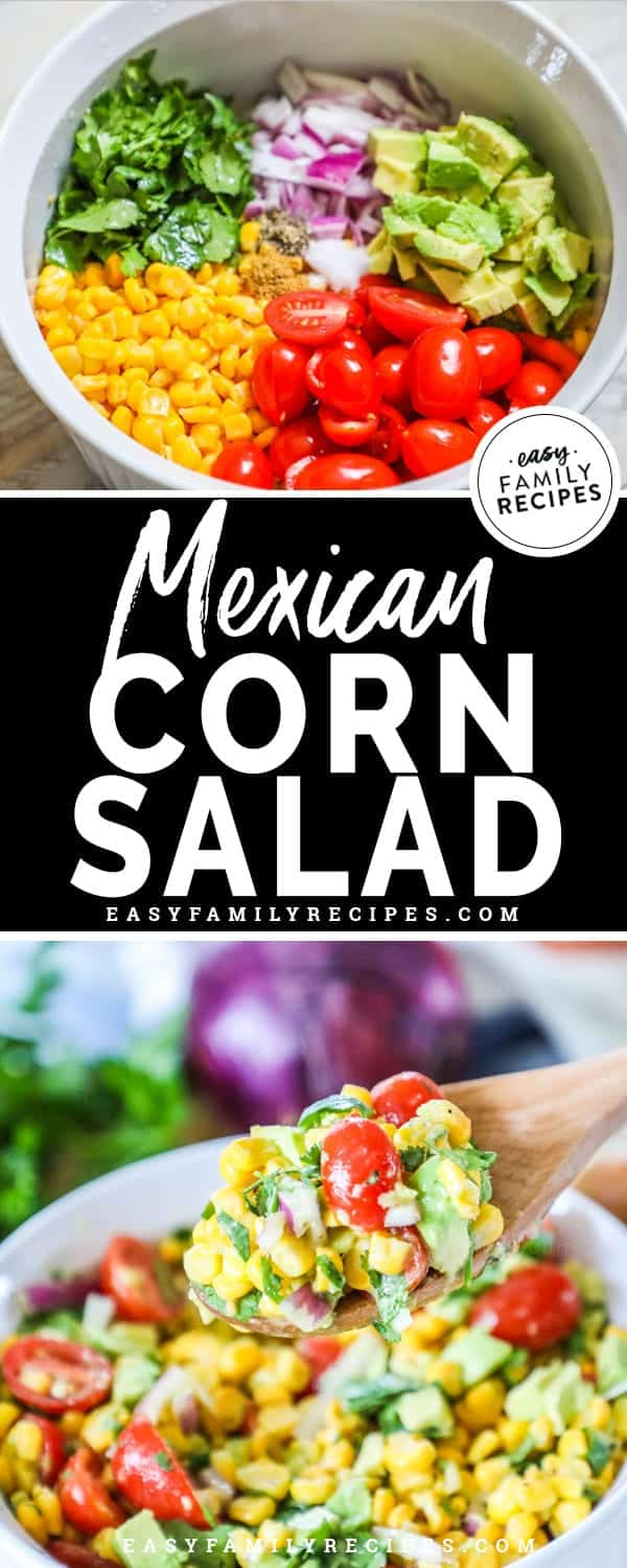 Quick, Easy, and Fresh Mexican corn salad