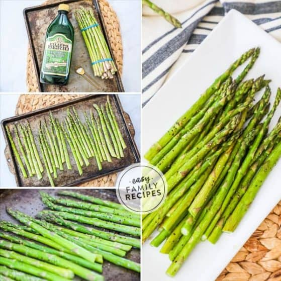 Baked asparagus is a perfect quick and easy side dish to any meal.