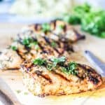 Tender & Juicy Ranch Chicken marinated then cooked on the grill