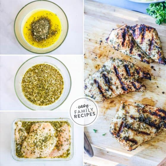 Ingredients and steps for Ranch Chicken marinade with buttermilk