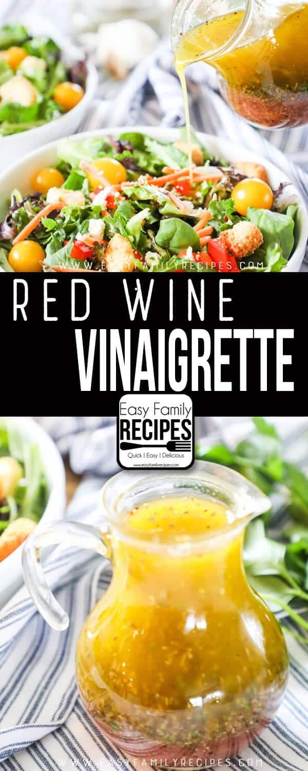 Sweet and Tangy Red Wine Vinaigrette is a perfect salad dressing.
