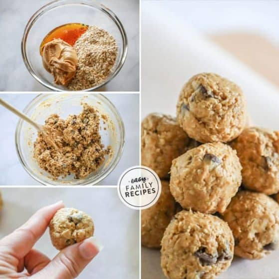 Delicious and easy peanut butter energy balls.