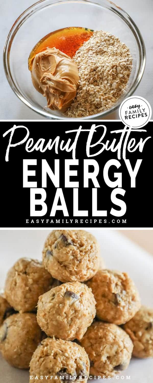 Delicious and nutritious peanut butter energy balls.