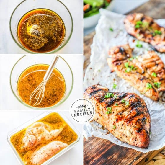 Tender juicy Chicken breast made with grilled chicken marinade