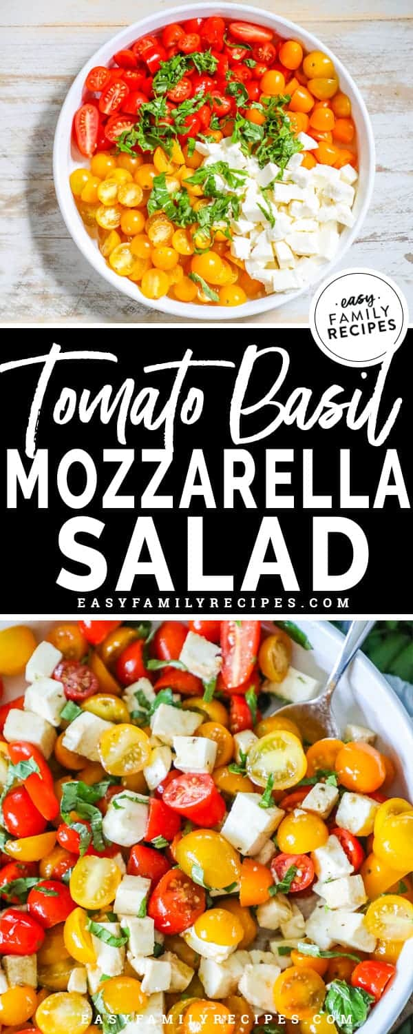 Delicious and flavorful Tomato Basil Mozzarella Salad.