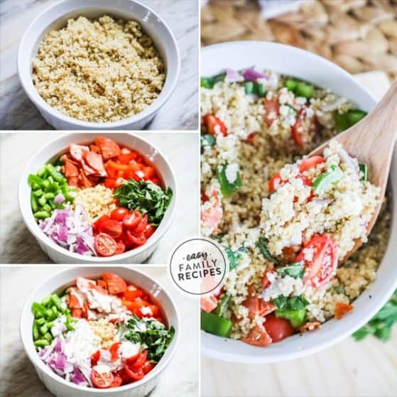 Italian Creamy Quinoa Salad is a crowd pleaser and full of flavor.