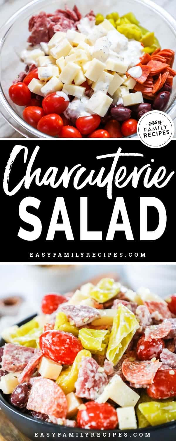 Delicious and Easy Antipasto Charcuterie Salad.