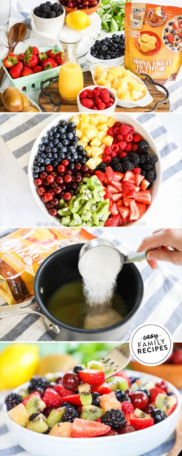 Steps for Easy to Make Summer Fruit Salad with Dressing