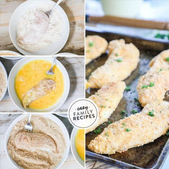 Steps for oven Baked Chicken Tenders made Healthy