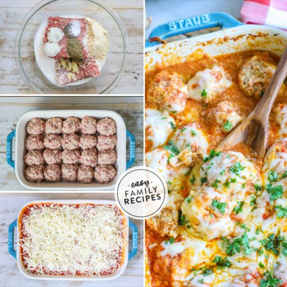 Step by Step for Baked Meatballs Parmesan