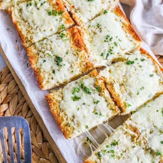 Recipe for Cheesy Garlic Bread.