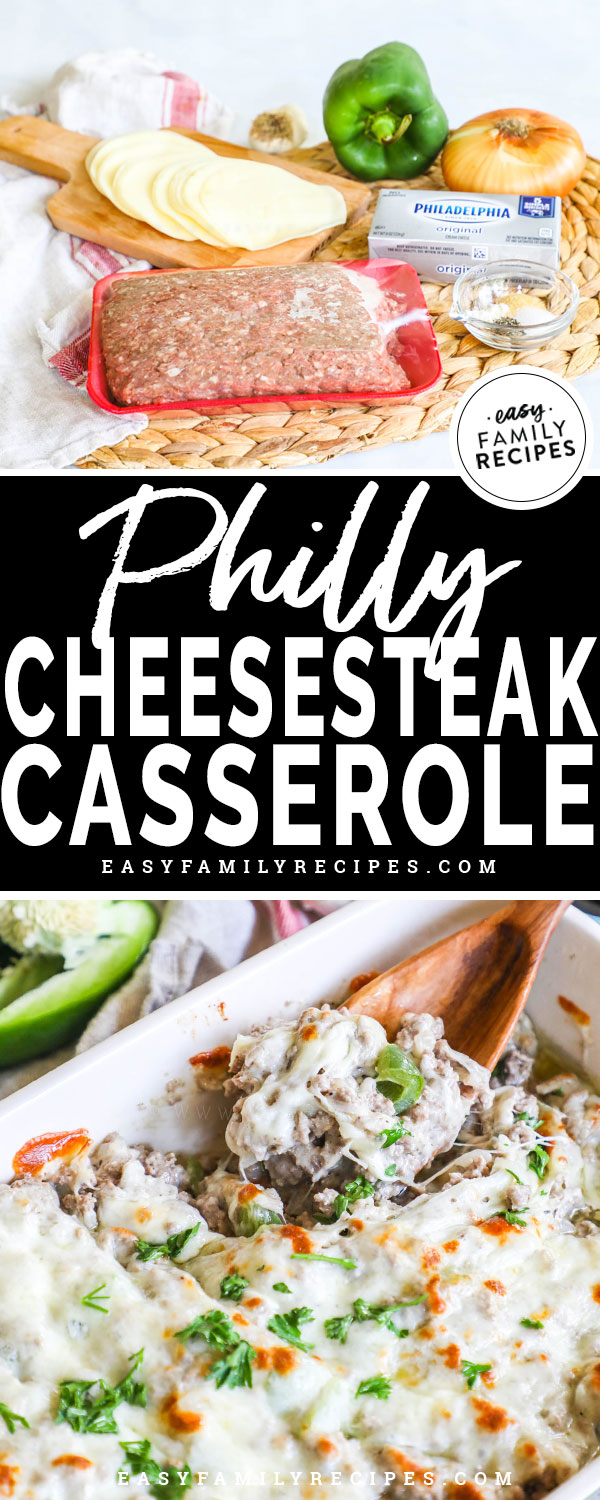 Philly Cheesesteak Casserole Ingredients