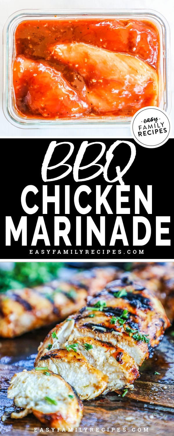 BBQ Chicken marinade is easy and delicious.