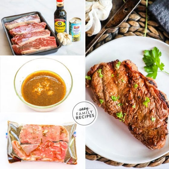 Delicious and Full of flavor Hawaiian Steak Marinade.