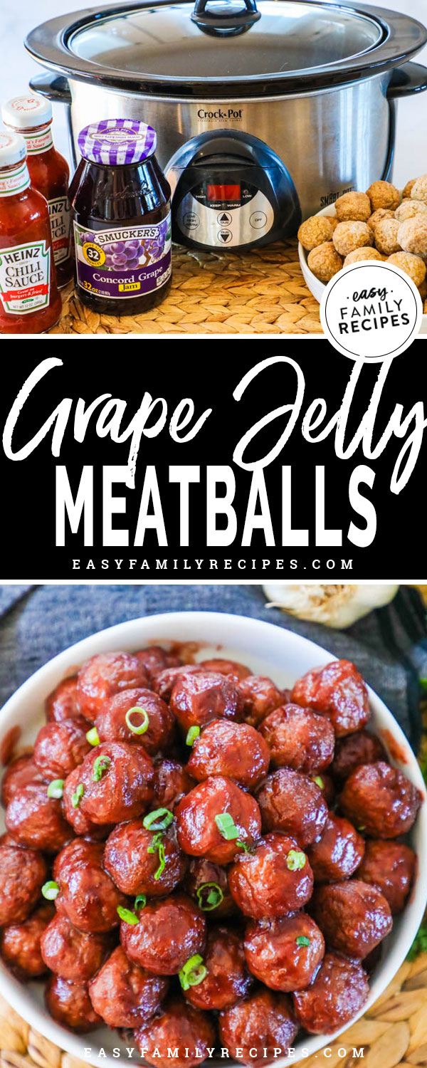 Crock Pot Party Meatballs Grape Jelly Meatballs Easy Family Recipes