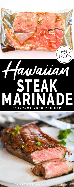 Delicious Hawaiian Steak Marinade.