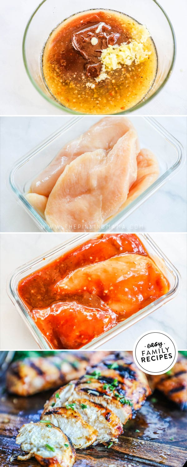 Steps for making BBQ Chicken Marinade.