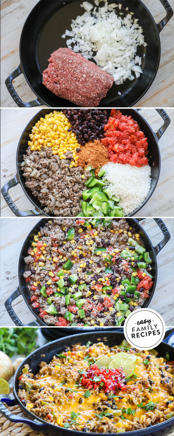 Easy Mexican Ground Beef And Rice Easy Family Recipes