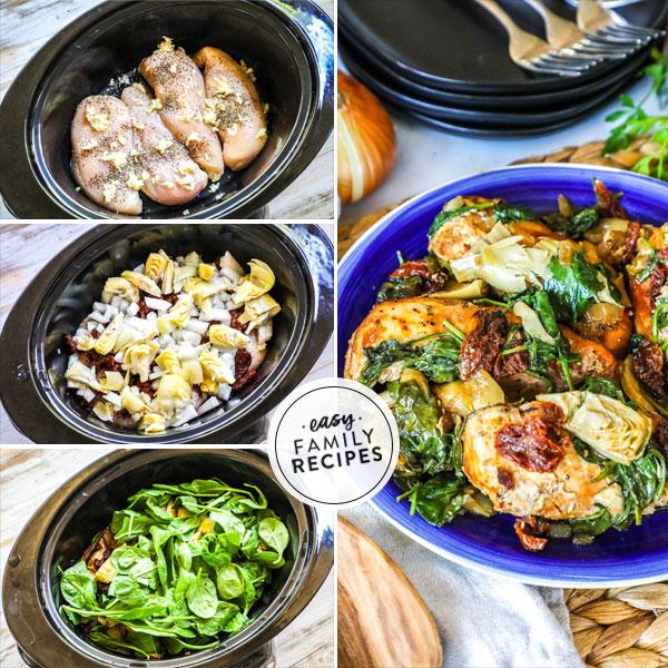 Crock Pot Tuscan Chicken · Easy Family Recipes