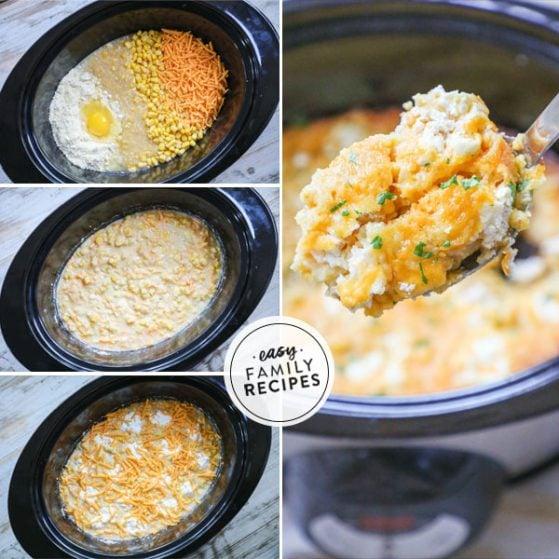Steps to Make Crockpot Corn Pudding