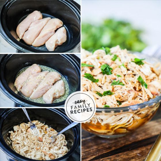 Step by Step crockpot honey garlic chicken