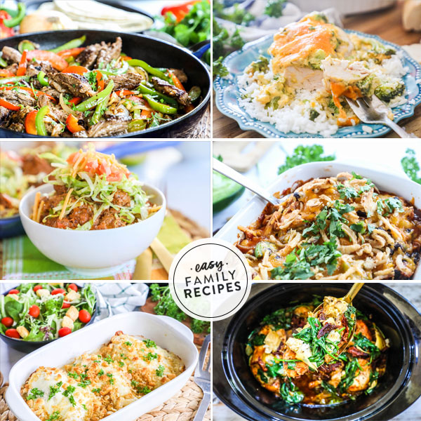 Weekly Meal Plan Easy Family Recipes