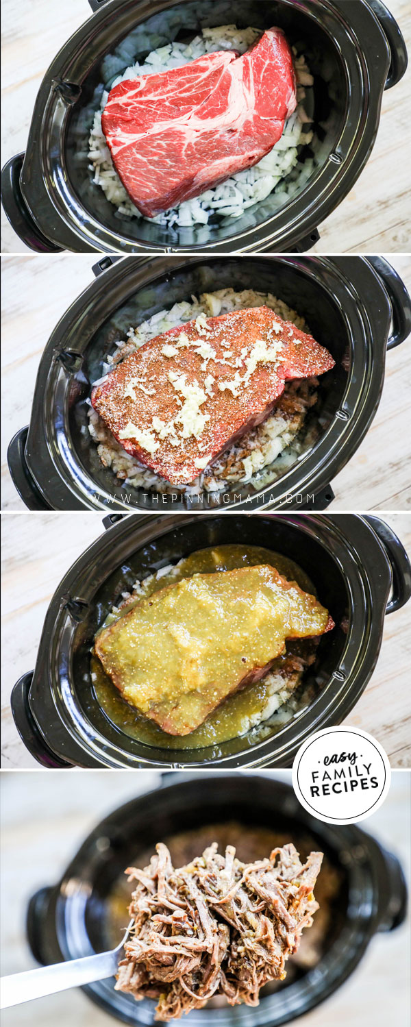 Process photos for How to make Mexican shredded beef with a chuck roast