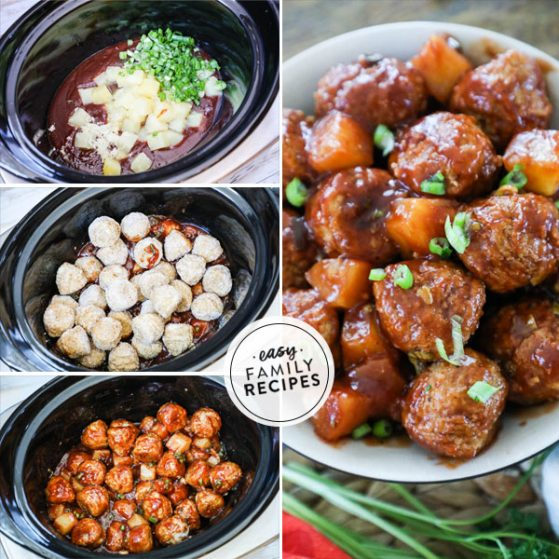 Steps to make BBQ Meatballs in the slow cooker
