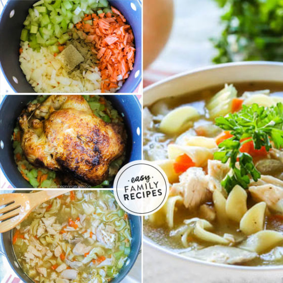 Step by Step making Rostisserie Chicken Noodle Soup
