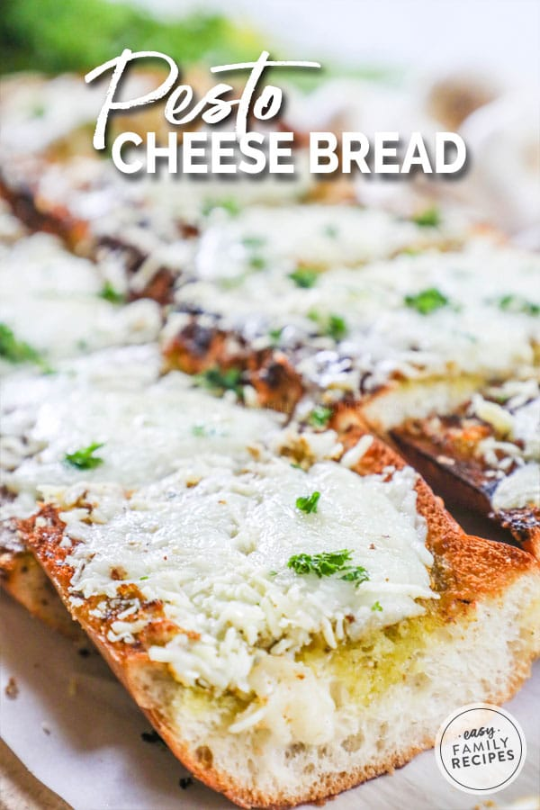 Pesto cheese bread is a quick and easy side to make for the whole family.