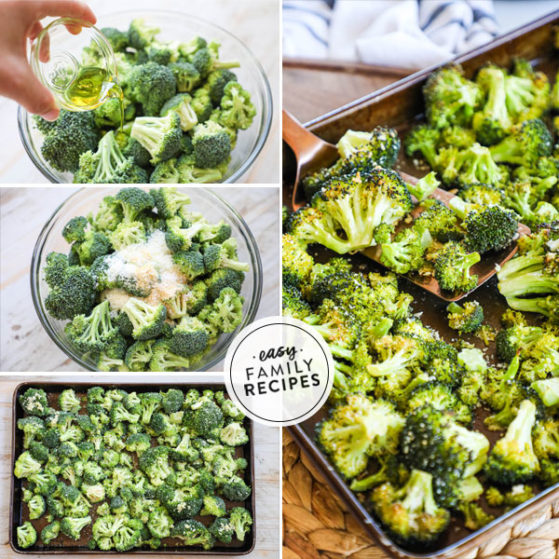 Step by Step for Making Roasted Broccoli