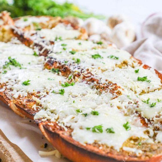 Recipe for pesto cheese bread.