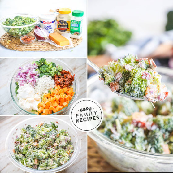 steps to make bacon ranch broccoli salad
