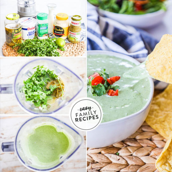 Step by step for making jalapeno ranch with cilantro