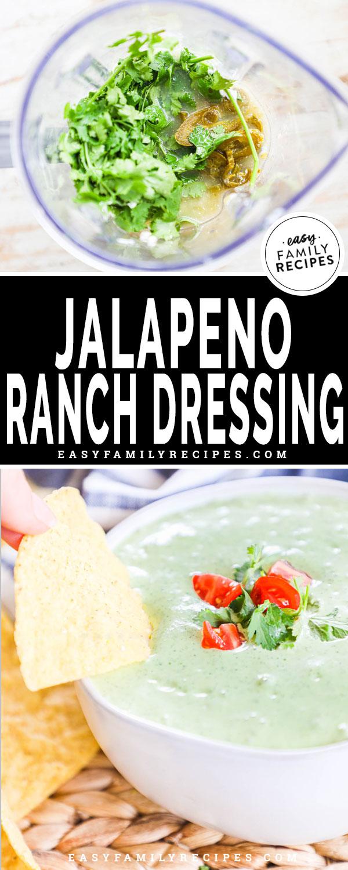 Ingredients for jalapeno ranch dressing in a blender