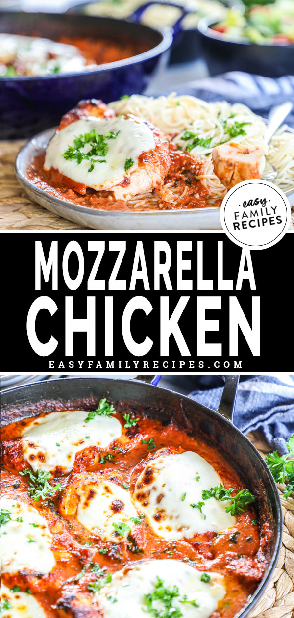 One Skillet Mozzarella Chicken Easy Family Recipes