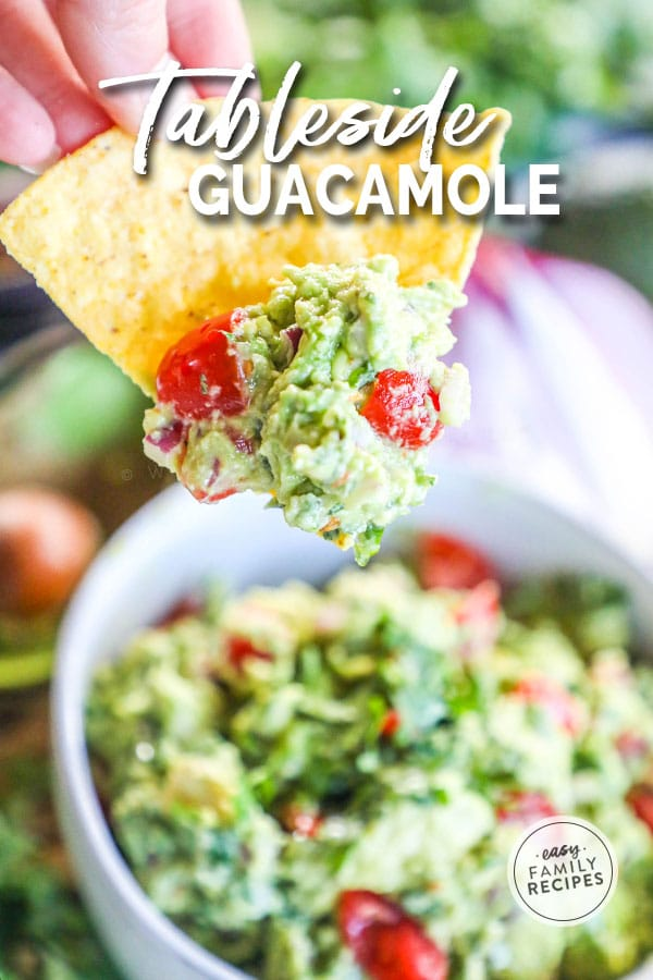Chip dipped into the best guacamole