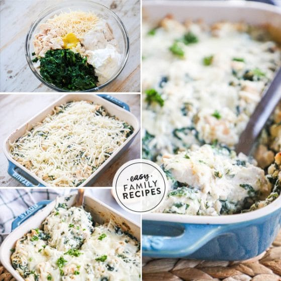 Step by step for making Chicken Casserole with spinach