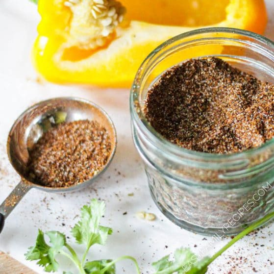 Tablespoon of homemade fajita seasoning