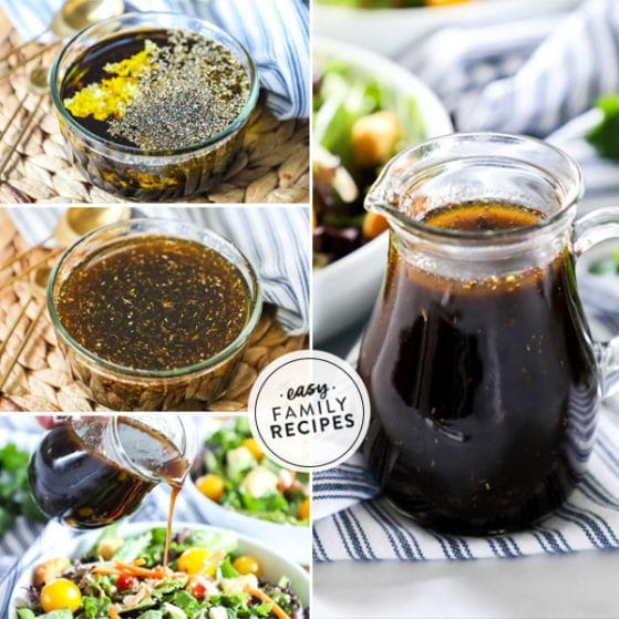 Steps for making Balsamic salad dressing