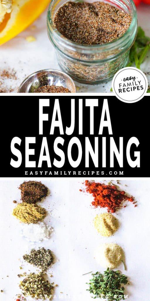 Homemade Fajita Seasoning in a jar