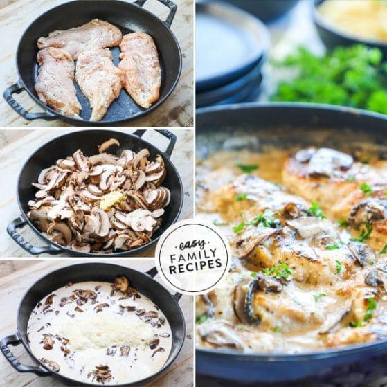 Steps to make Creamy Mushroom Chicken Skillet