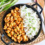 Firecracker Chicken with Rice in a Skillet
