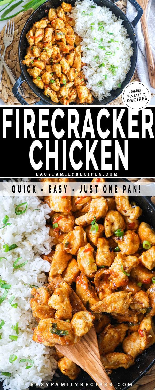 Close up of Firecracker chicken