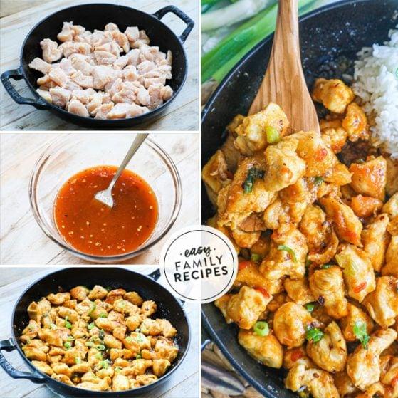 steps for making firecracker chicken recipe