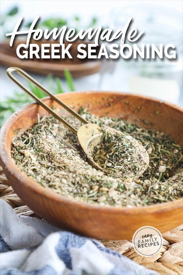 Greek Seasoning blend mixed in a bowl