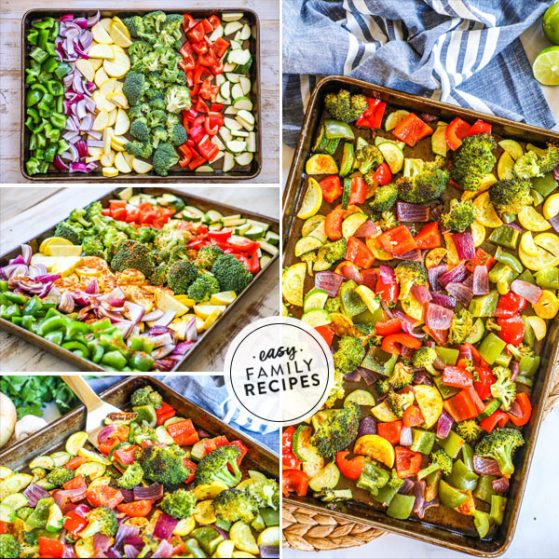 Step by step to make Mexican Roasted Vegetables in oven