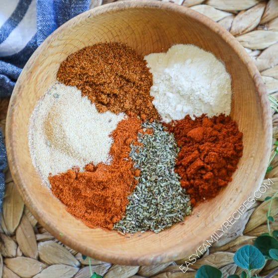 Seasonings for Blackened Fish in a bowl